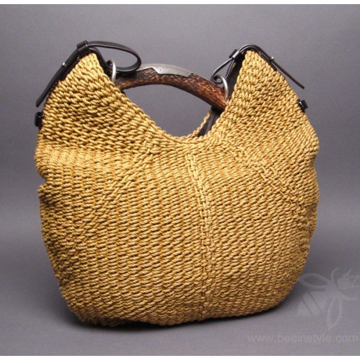 8e9d6307b74 Yves Saint Laurent YSL Woven Straw Mombasa Horn Hobo Bag | Dream ...