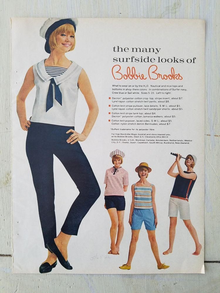2f470efa2fff6 1965 Bobby Brooks sailor suit women s clothing Surfside look ad ...
