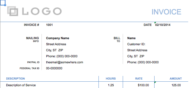 Basic Invoice Templatebusiness Invoice Template Invoice Templates - Create your own invoice template for service business