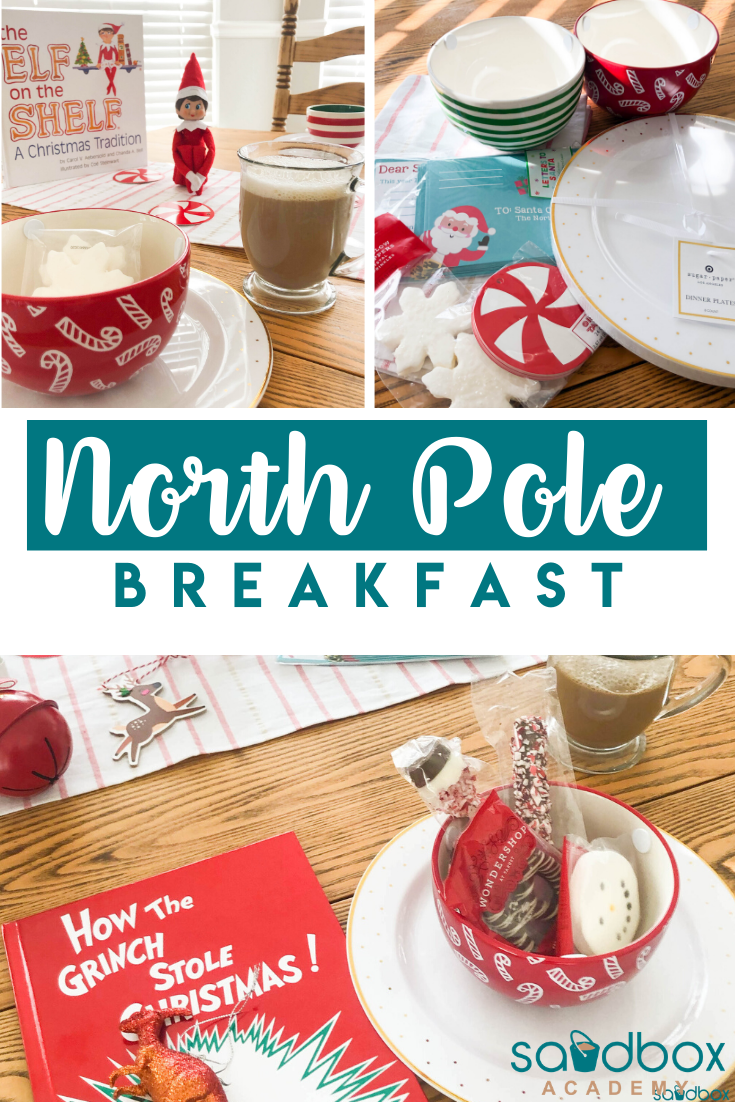 North Pole Breakfast A Christmas Tradition - Sandbox Academy #northpolebreakfast North Pole Breakfast A Christmas Tradition - Sandbox Academy The North Pole Breakfast is a Christmas tradition. Your Elf on the Shelf brings holiday magic and breakfast for your family to start the holiday season. #northpolebreakfast