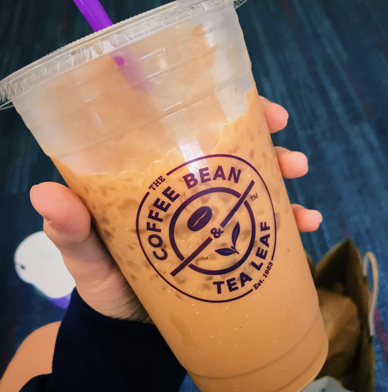 Coffee Bean And Tea Leaf Iced Caramel Latte California Lax Airport Coffee Beans Tea Leaves Caramel Latte