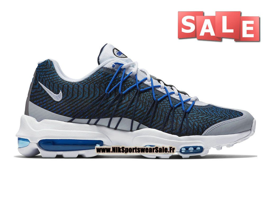 best sneakers 18d88 e3aec ... sale nike air max 95 ultra jacquard chaussure nike sportswear pas cher  pour homme bleu nuit