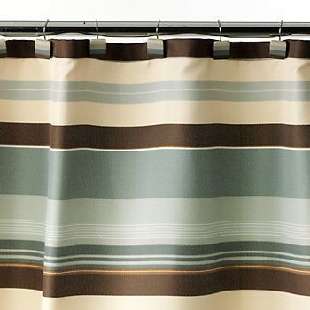 Madison Striped Fabric Shower Curtain Kohls Fabric Shower