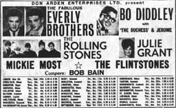 Concerts & Package Tours : 1963 (September to October) | The