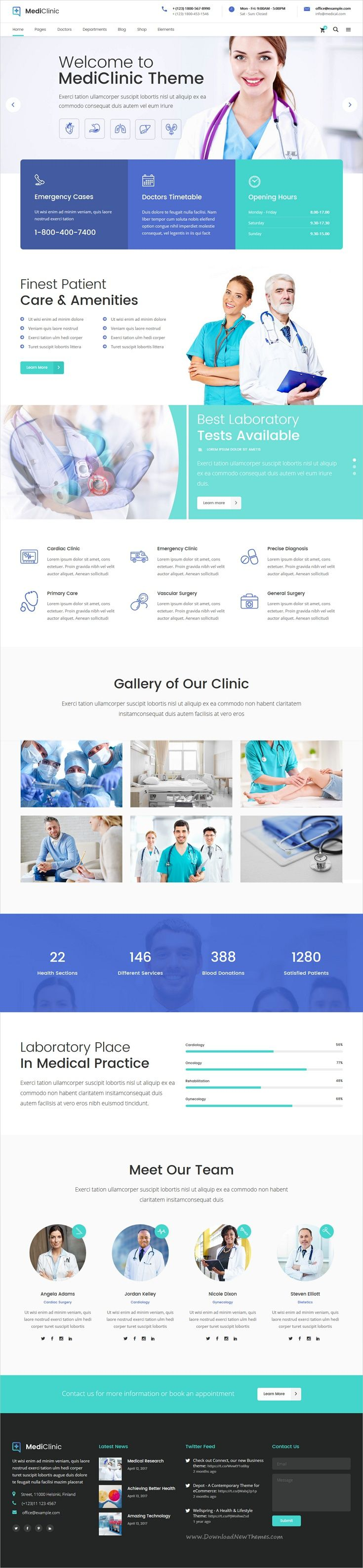 Mediclinic Is Clean And Modern Design 12in1 Responsive Wordpress