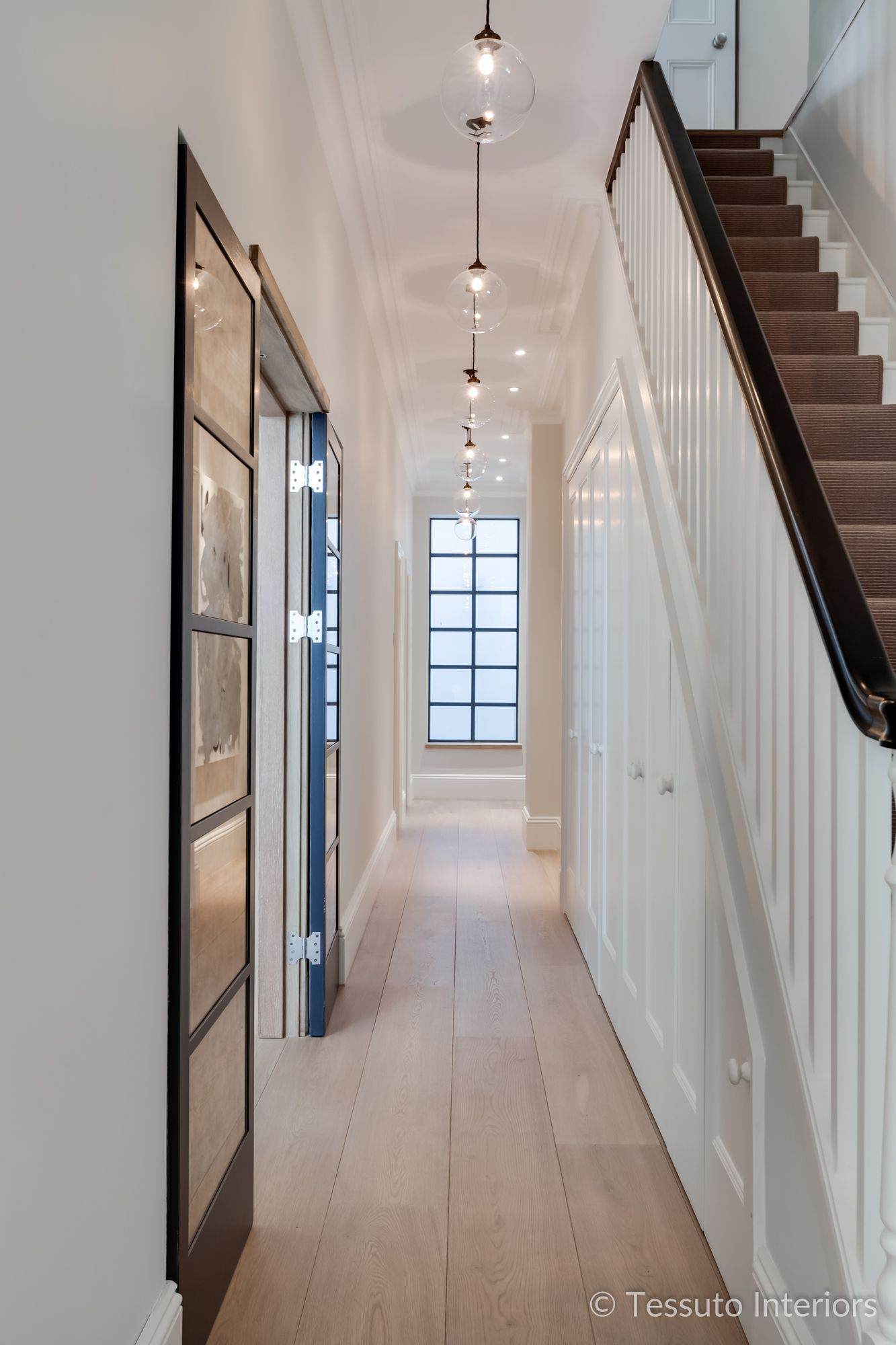 Tessuto Interiors Luxury Contemporary Hallway Pendant Lighting