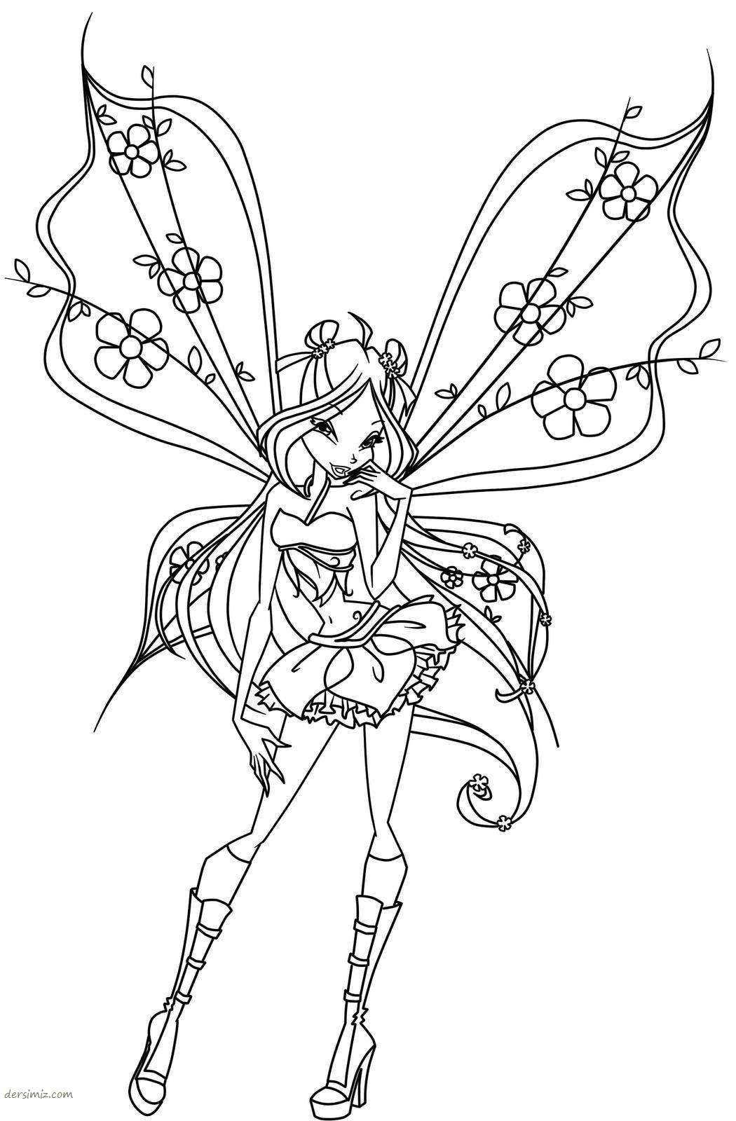Line Art Drawings Of Fairies Winx Kahramanlari Boyama Kagitlari