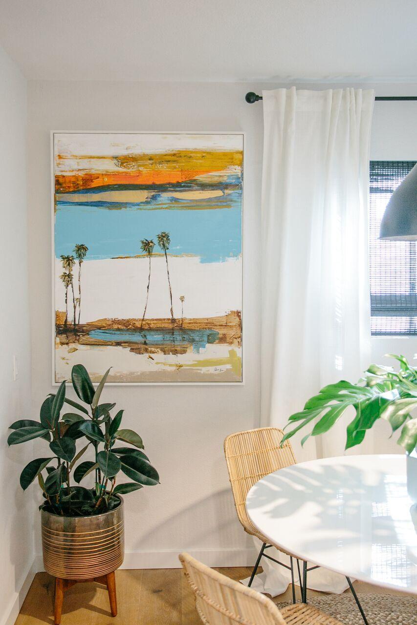 """Light & Bright """"Modern Hawaiian"""" Inspired Dining Room"""