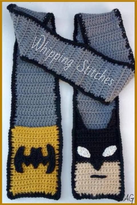 Batman scarf | Crochet and Crafts | Pinterest | Topflappen, Stricken ...
