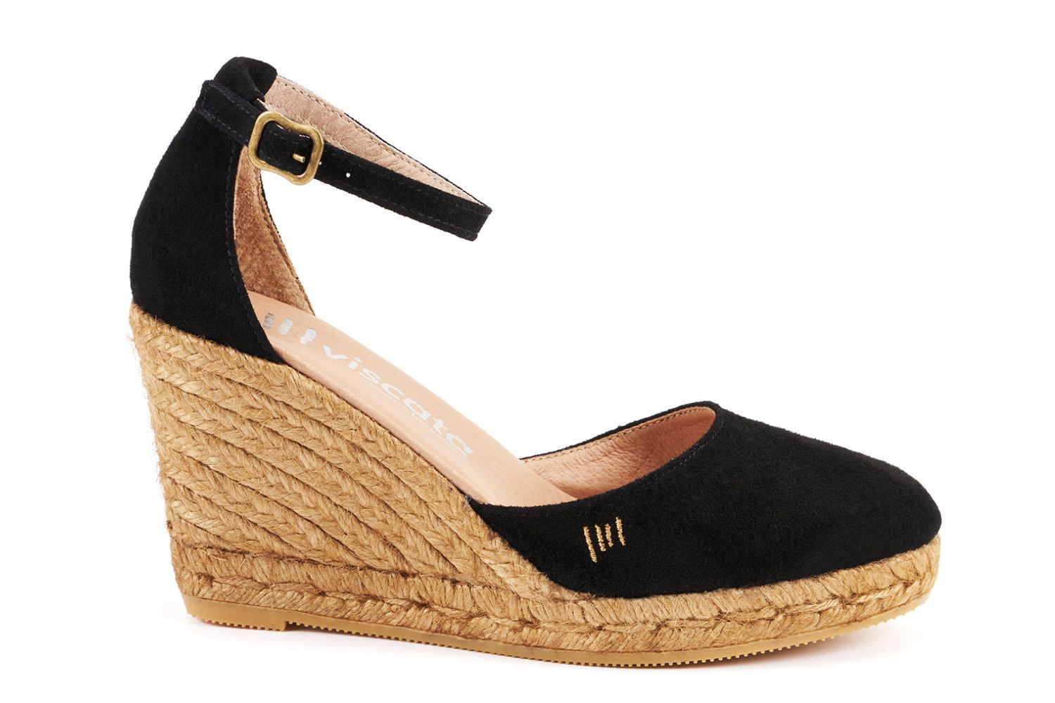 2d07012496b Palamos Suede Wedges - Black Womens Espadrilles Wedges