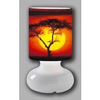 Lampada Etnica Sole d'Africa Tavolo vetro, Lampade da tavolo