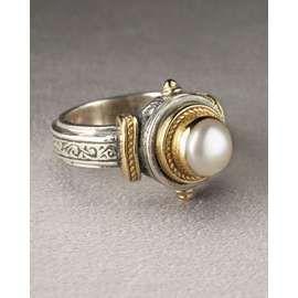 Konstantino 18k Gold And Pearl Ring