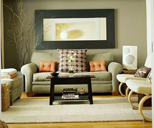 sage greenburnt orange living room Design Pinterest Sage