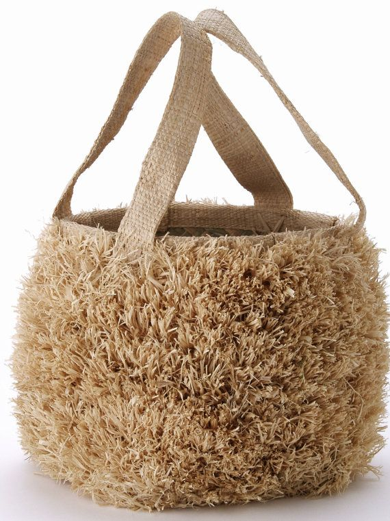 Natural Grass Bag Raffia Basket Wedding by Atelieremmarose on Etsy, $29.99