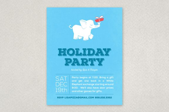 White Elephant Party Flyer Template  Planning A White Elephant