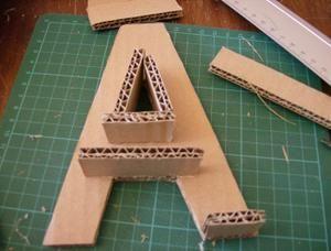 lettre en carton lettre en carton : tuto | Bricolage and Crafts lettre en carton