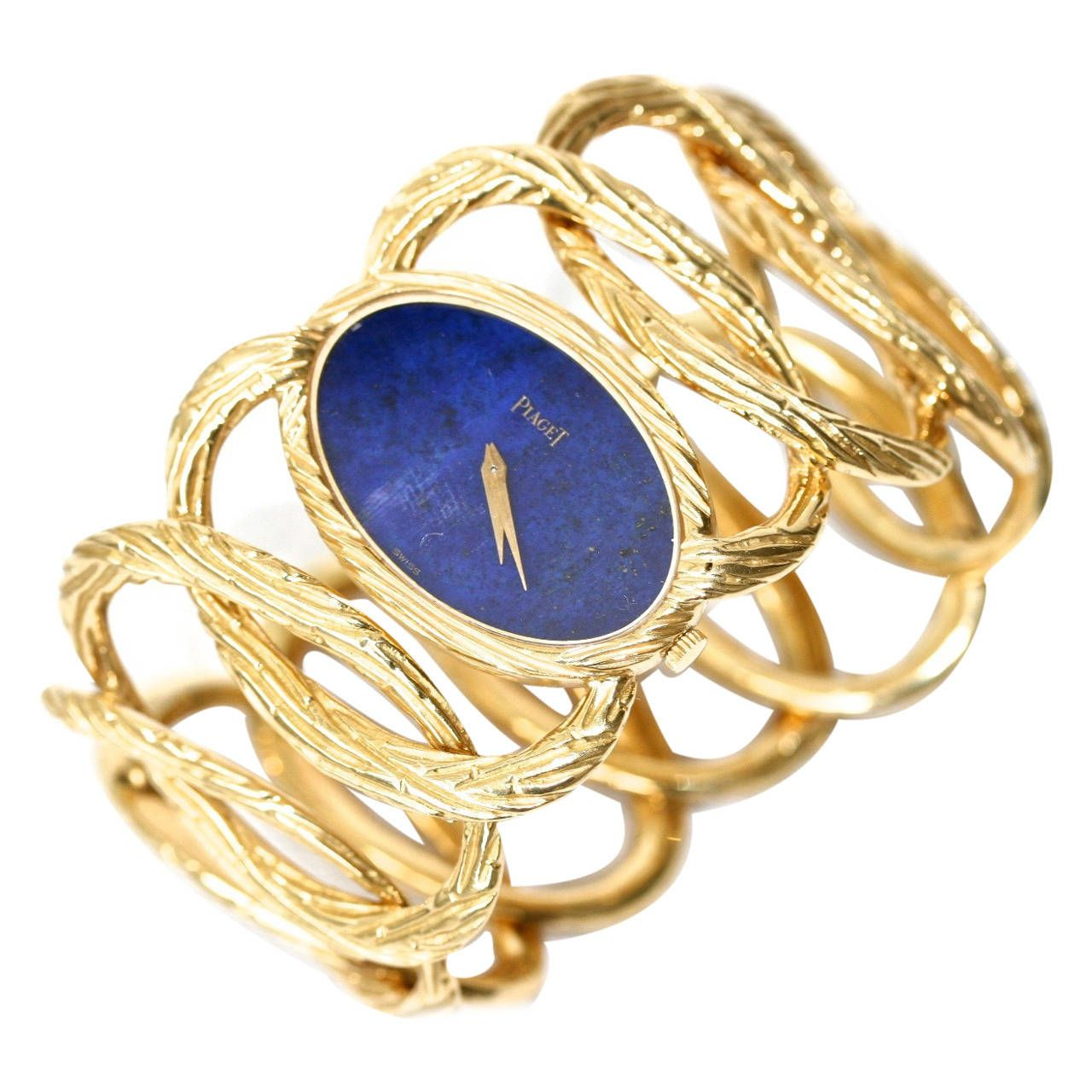 PIAGET 1970s Gold and Lapis Bracelet Watch in 2019 ...