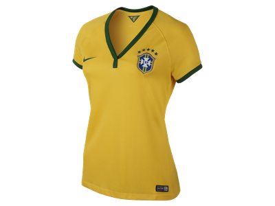 2013/14 Brasil CBF Stadium Short-Sleeve Women's Football Shirt