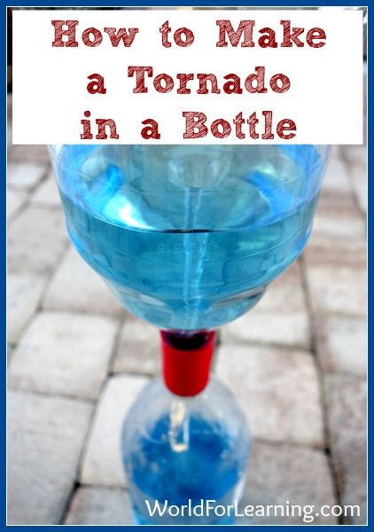 How to Make a Tornado in a Bottle | Weather, Activity tables and ...