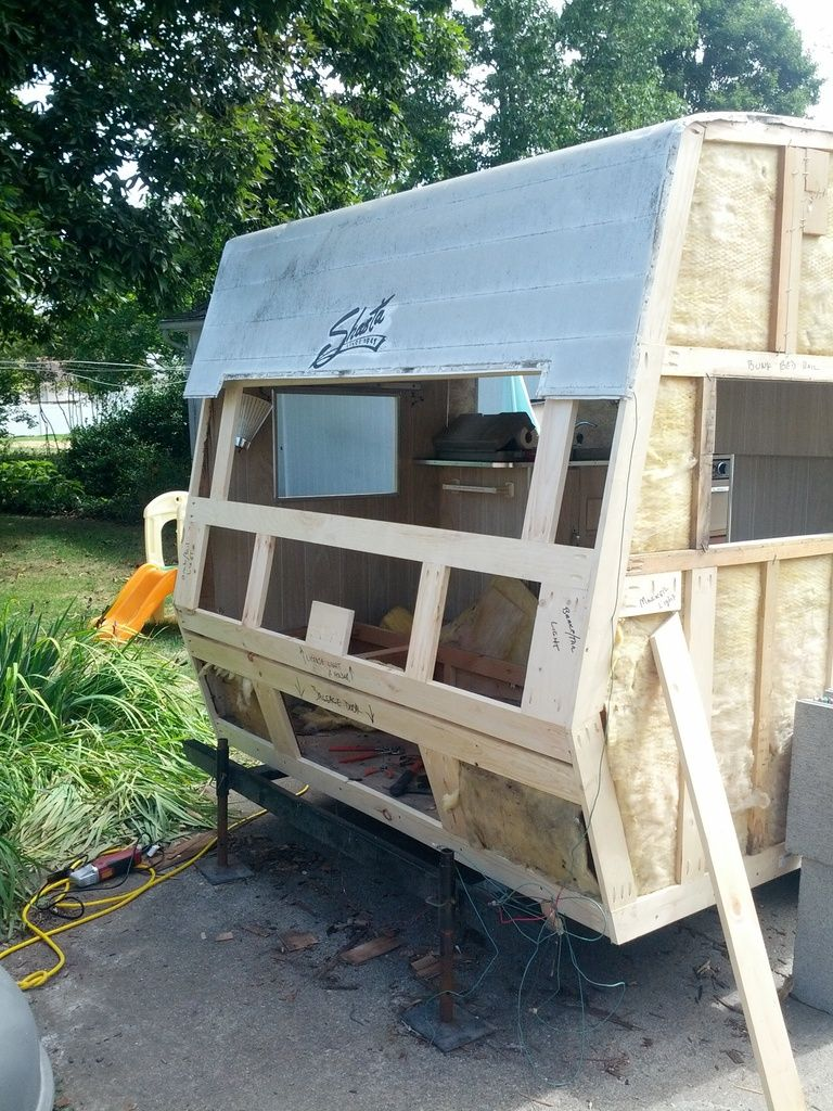 1972 shasta rebuild time vintage trailer talk glamping
