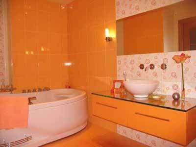 Retro Bathroom With Images Bathroom Design Orange Bathrooms Designs Bathroom Colors