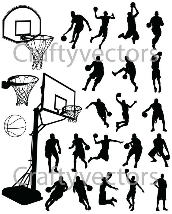 Svg Silhouettes FilePour Vector Basketball Decoupes Graphisme ikZPTuOX