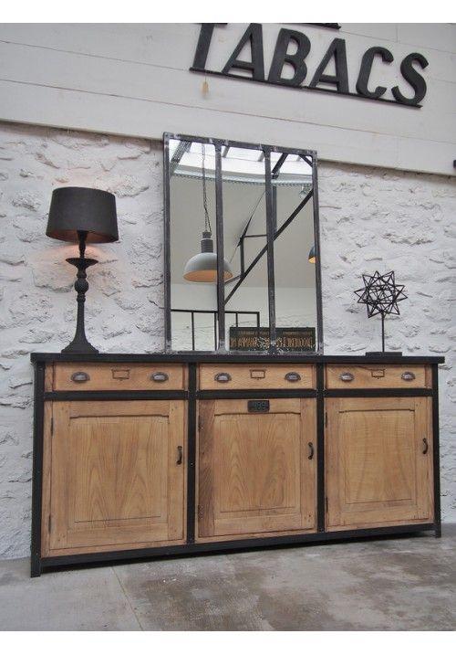 Enfilade Industrielle Vers 1960 Industriel Rustique Look Deco Cabinet Home Decor Et Furniture