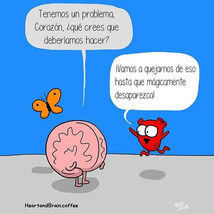 Corazón Vs Cerebro! Este divertido cómic muestra la batalla - resume yeti