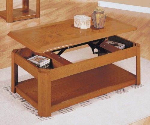 Awesome The Top Raises On This Coffee Table To Reveal Hidden Secret Compartments