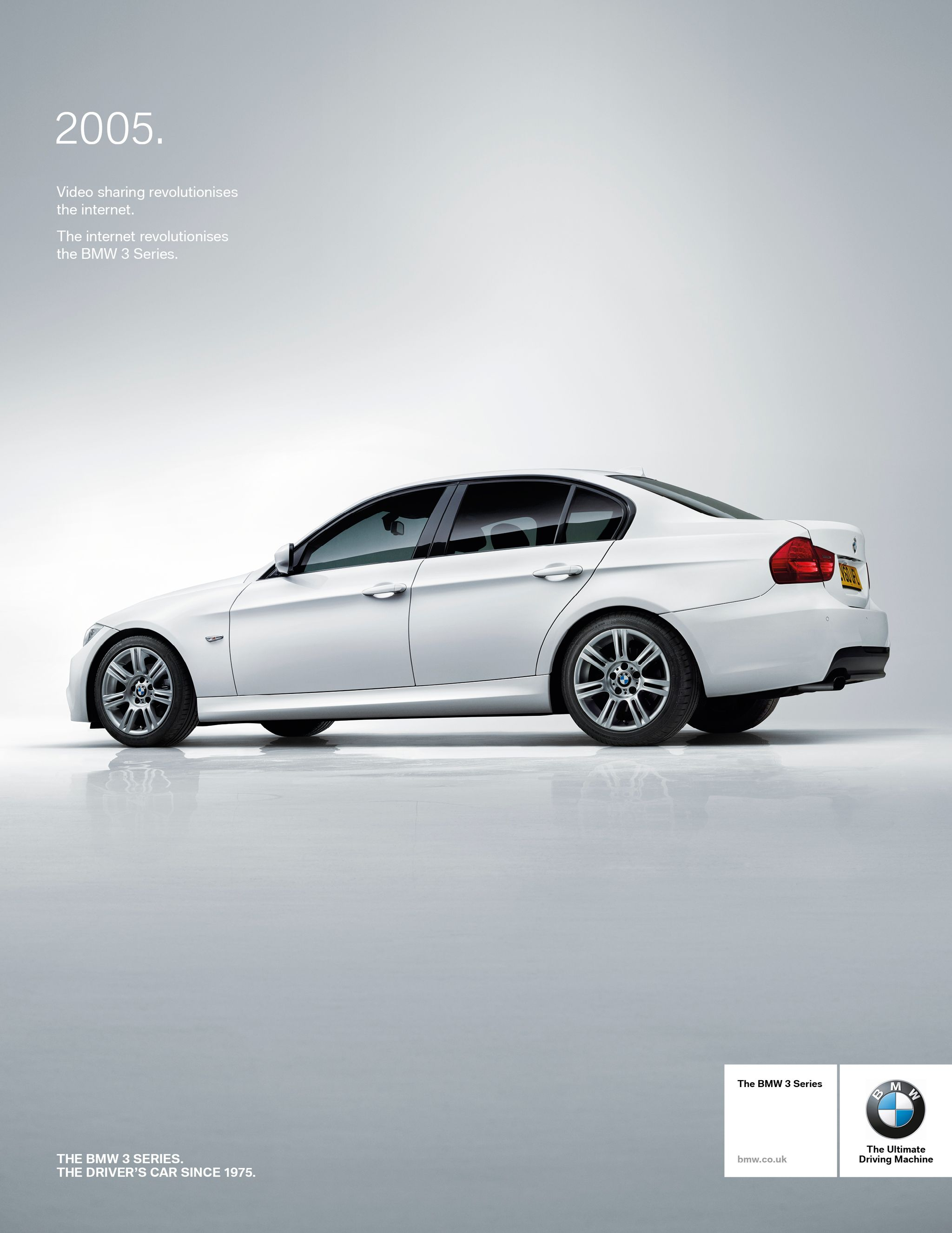 Retro press advertisement for a bmw 3 series campaign 2005 bmw 3 series e90