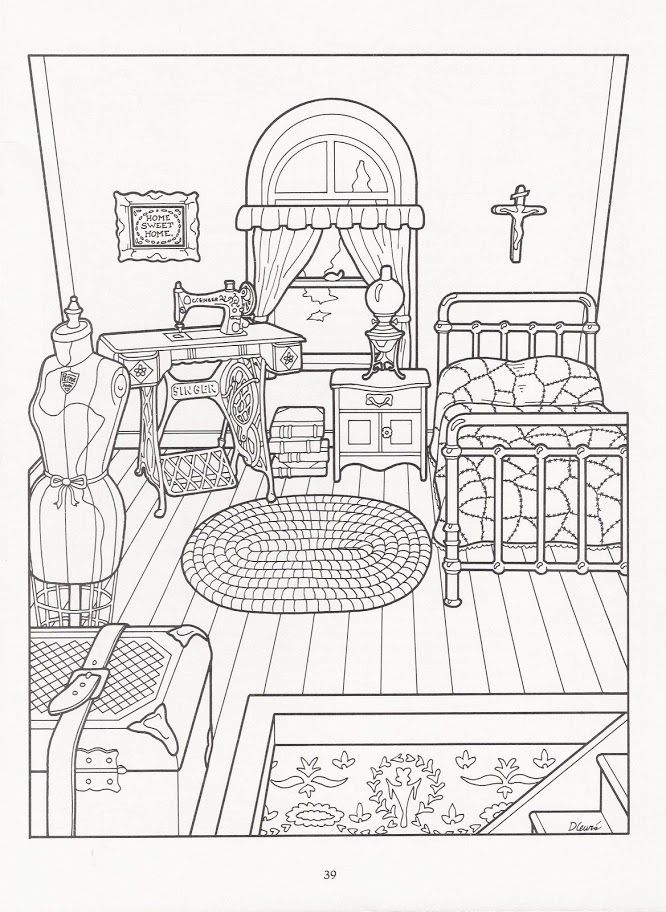 The Victorian House Coloring Book Coloring Books Coloring Pages