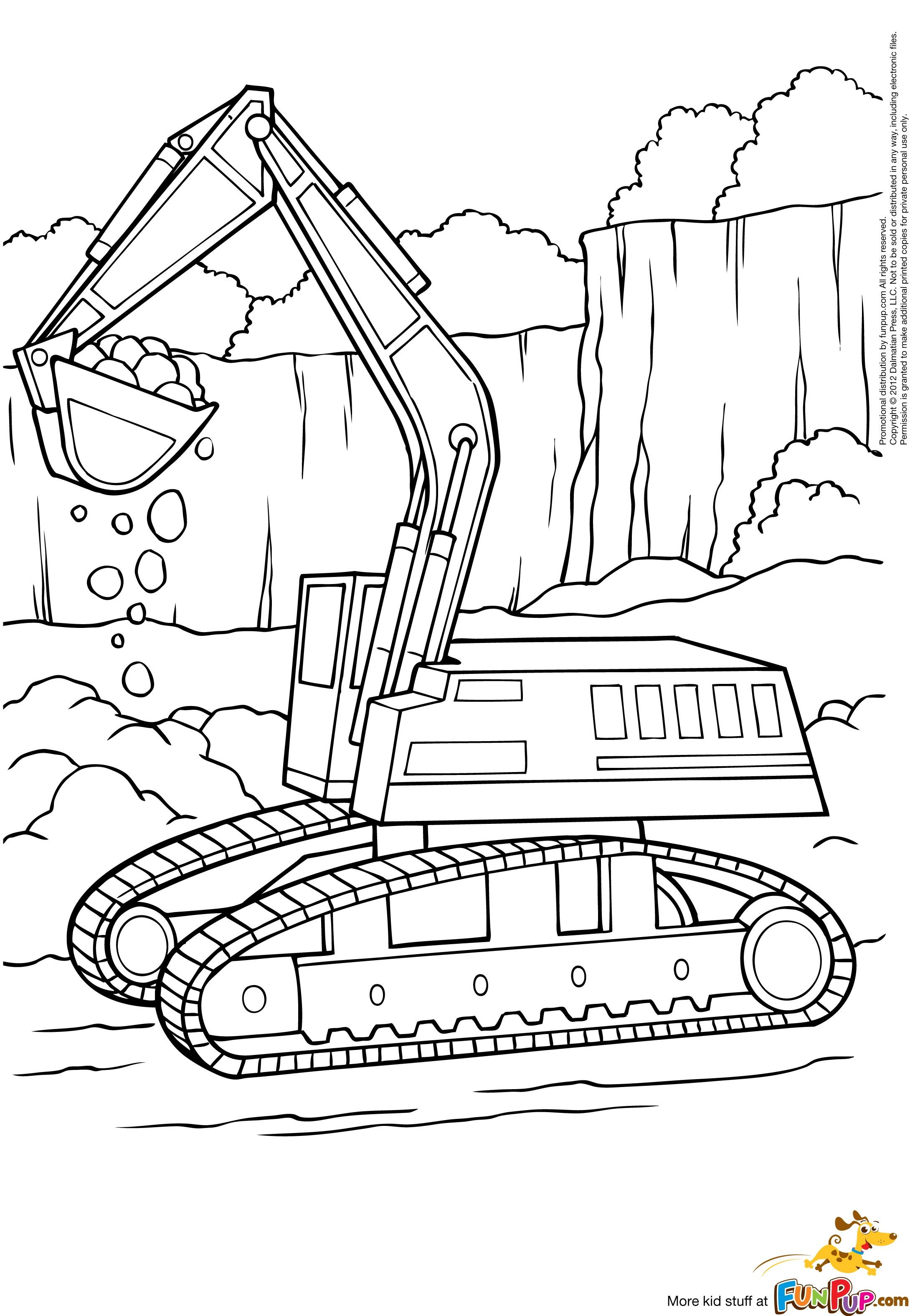 Excavator coloring pages Boyama sayfaları, Alfabe boyama
