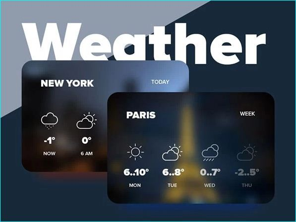 Weather Widget Ui For Designer