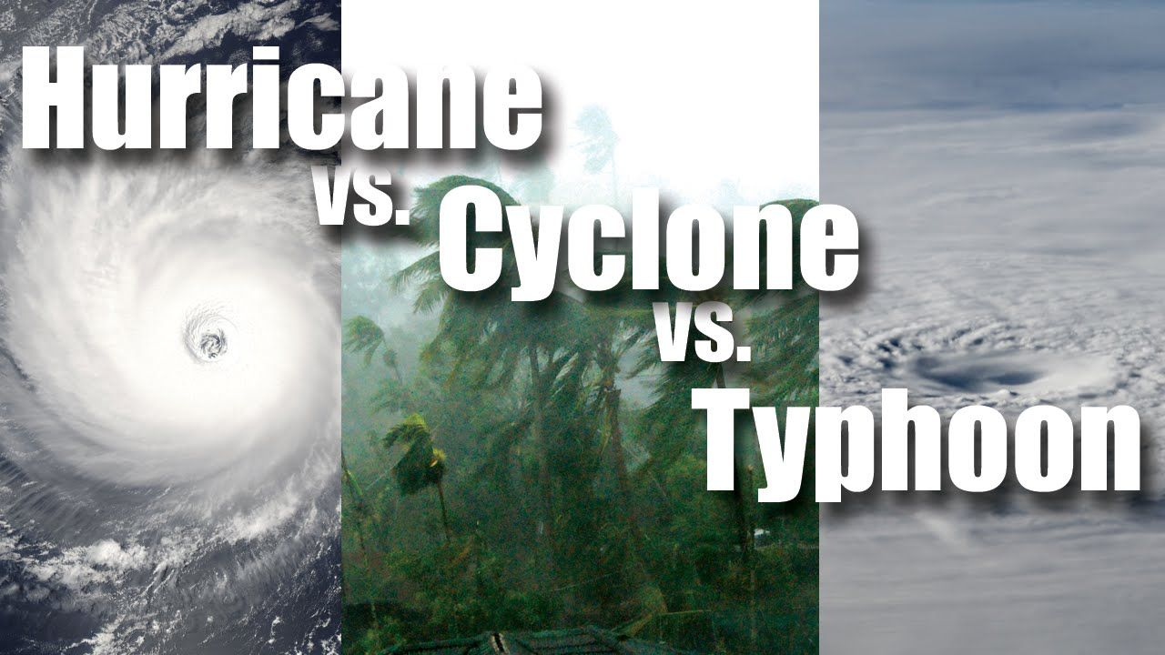 Hurricane Vs Cyclone Vs Typhoon Cyclone Hurricane Weather Seasons