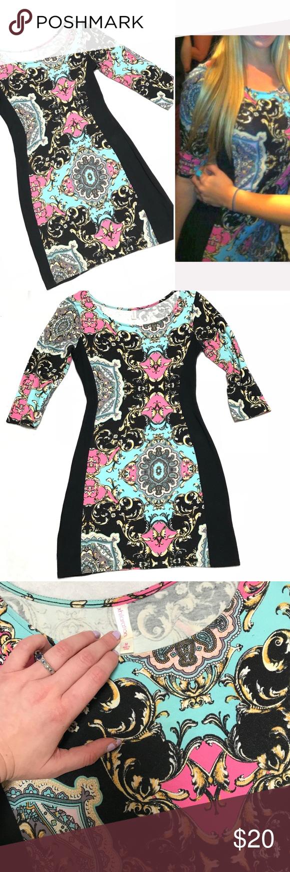 Xhilaration Boho Print Bodycon Dress Boho Print Dress Printed Bodycon Dress Paisley Print Dress [ 1740 x 580 Pixel ]