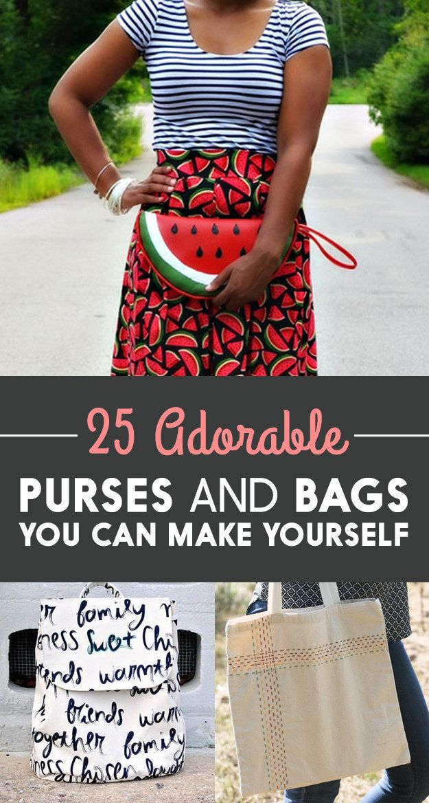 25 Adorable Purses And Bags You Can Make Yourself   Taschen nähen ...