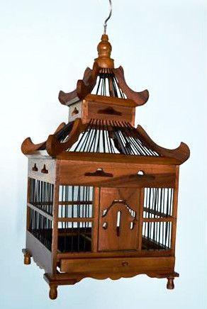 Hanging Asian Style Birdhouse Bird Cage Decor Bird Cage Bird