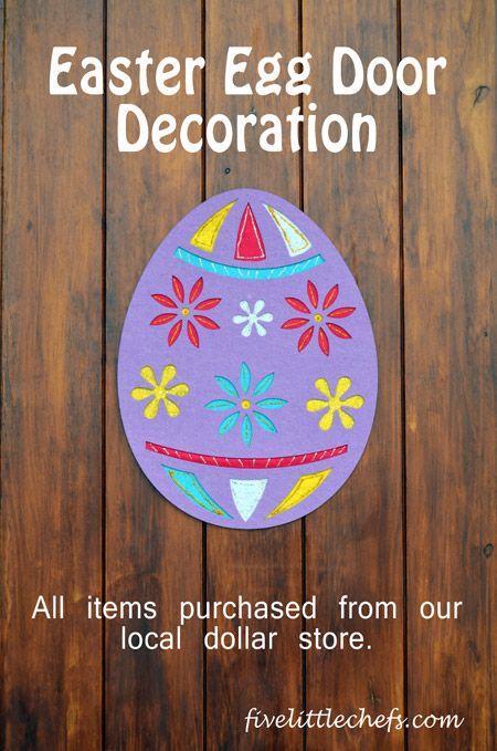 Easter Egg Door Decoration - Easter Crafts | Easter ...