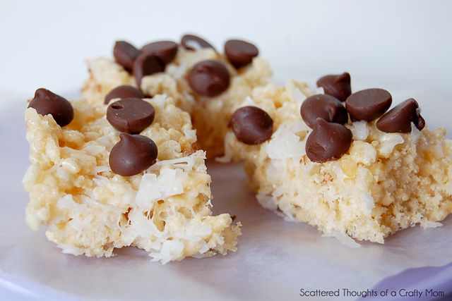 Chocolate, Almond and Coconut Rice Krispies