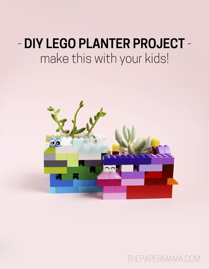 DIY LEGO Planter Project  Fun to do with your kids! is part of Cool Kids Crafts DIY Projects - DIY LEGO Planter Project This is a fun project to create with your kid! Just grab some LEGO bricks and get to building  It's cute!