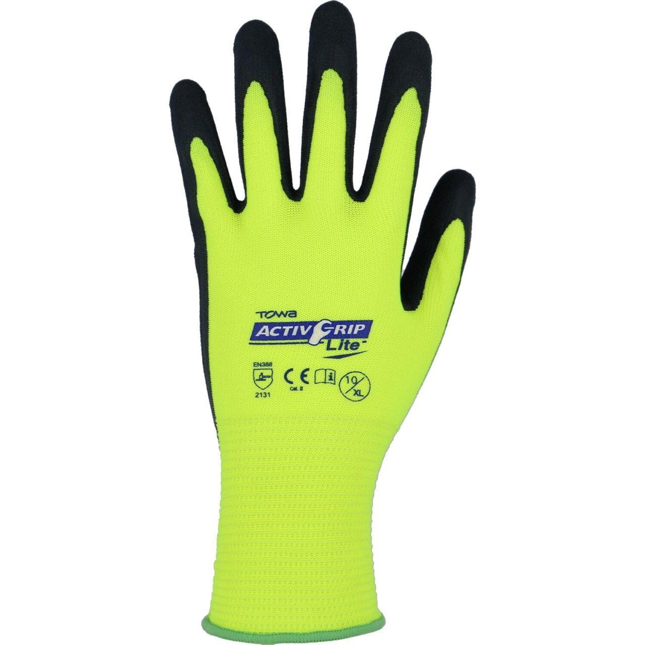 Arbeitshandschuhe Montage- teXXor® Polyester-Strickhandschuh Latex beschichtet