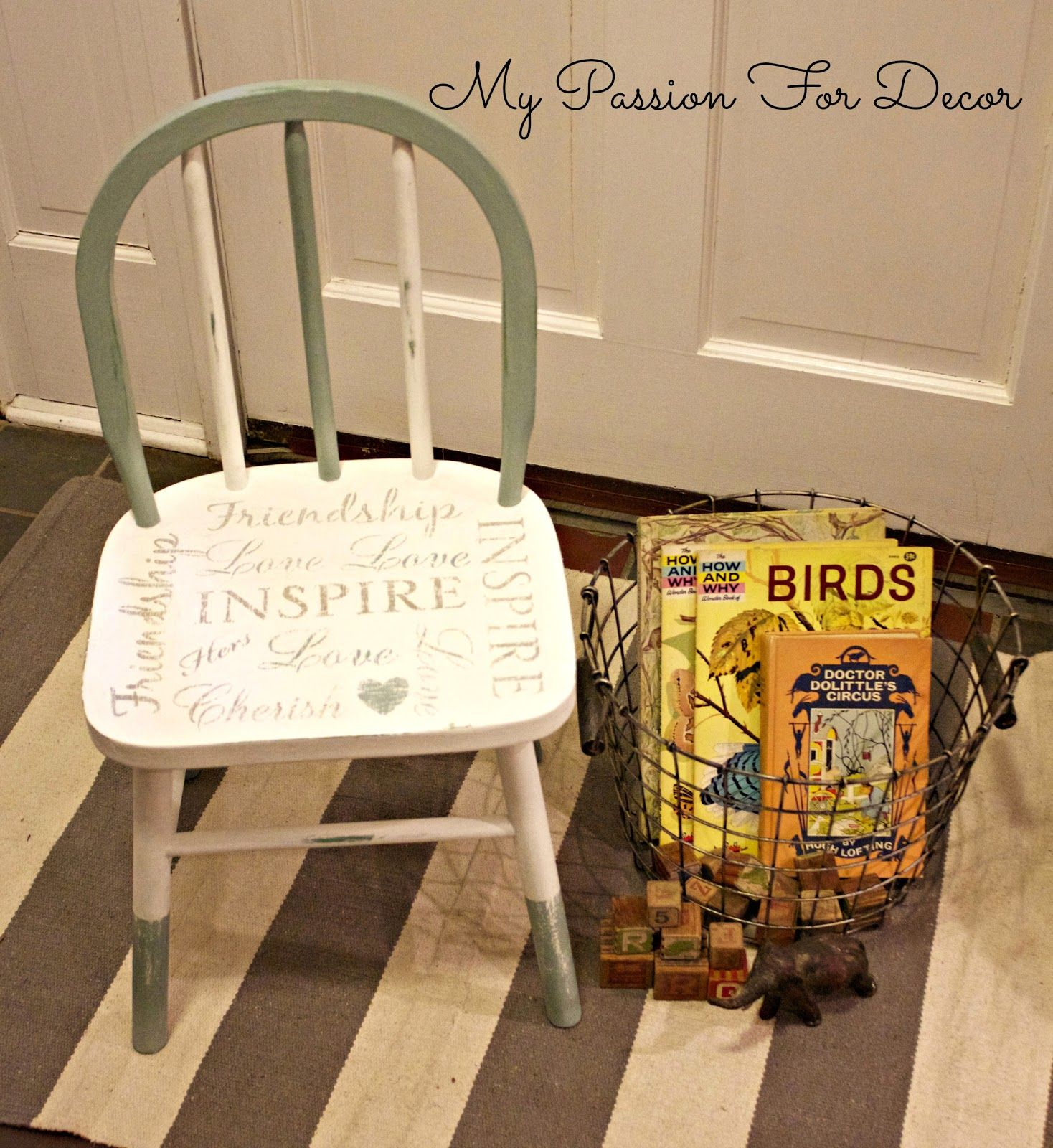 My Passion For Decor A Chair For A Special Little Girl Duck Egg