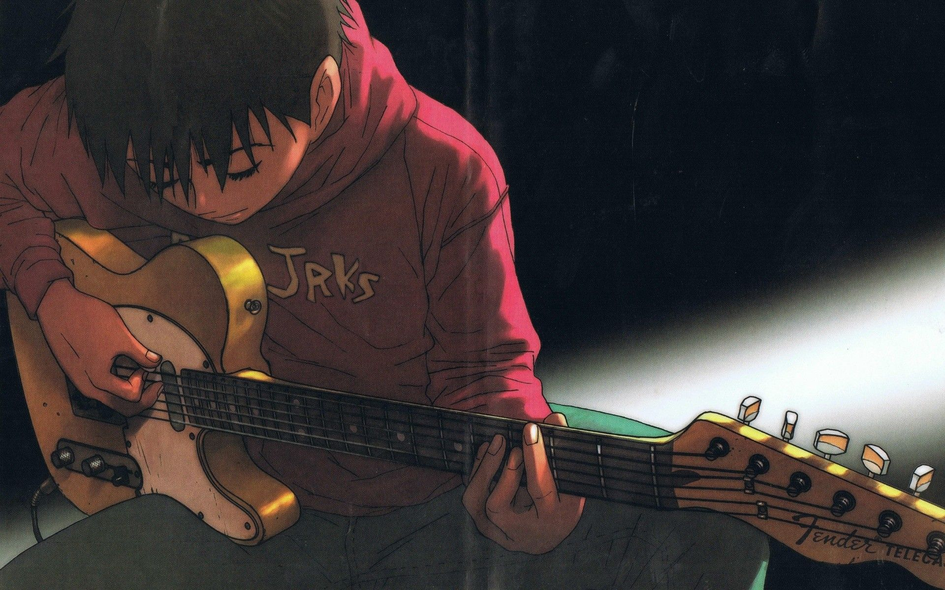 Pin By Hel Suy On Art Guitar Illustration Cats Art Drawing Anime