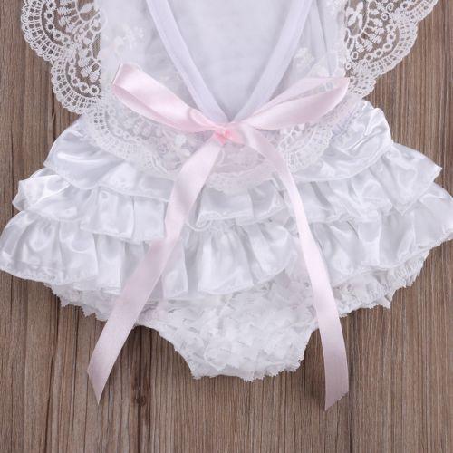 Bebé Infantil Niña Ropa de Encaje Floral Enterito Enterizo Pastel Sunsuit  trajes 0-24M 561b2127dbea