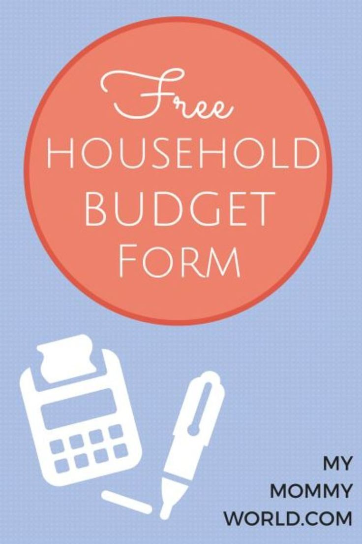 Free Household Budget Form  Budget Forms Free Printable And