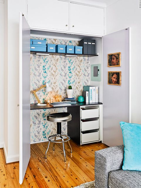 Wallpaper cupboard: Try this simple wallpapering project to inject your room with personality.