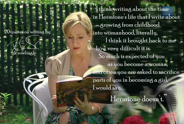 Click the image for 19 more JK Rowling's quotes on writing