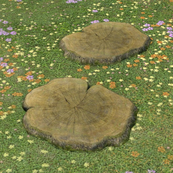 Straight Stepping Stumps Ffxiv Housing Outdoor Furnishing Outdoor Furnishings Furnishings Outdoor