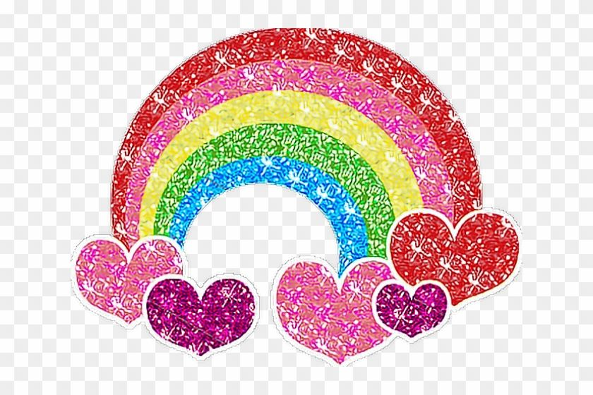 Find Hd Rainbow Clipart Glitter Rainbow Glitter Heart Png Transparent Png To Search And Download More Free Transpa Rainbow Clipart Rainbow Glitter Clip Art