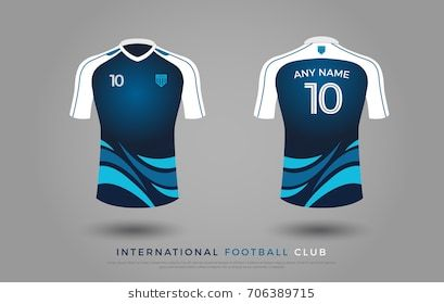230b6691f9c soccer t-shirt design uniform set of soccer kit. football jersey template  for football club. blue and white color